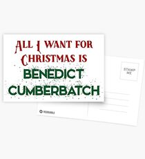 All I want for Christmas is Benedict Cumberbatch Postcards