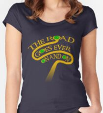 The Road Goes Ever On And On Women's Fitted Scoop T-Shirt