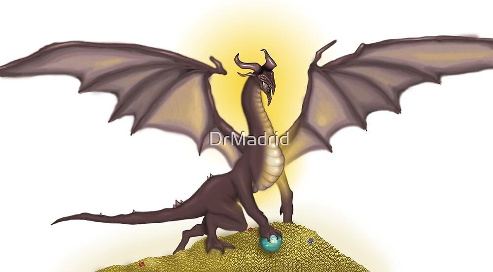 Gold Garnet Dragon by DrMadrid