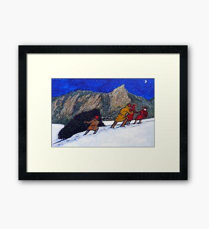 Boulder Christmas Framed Print