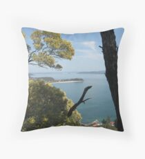 View from Mount Tomaree Throw Pillow