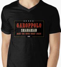 Garoppolo and Shanahan - Make the 49ers Great Again! Men's V-Neck T-Shirt