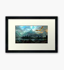Golden Dragon Mountain Framed Print