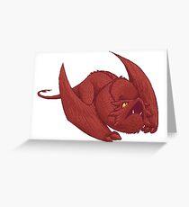Little Smaug - Pixel Dragon Greeting Card