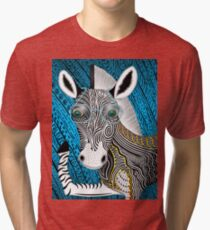 Portrait Of The Artist As A Young Zebra Tri-blend T-Shirt