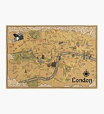 Map of London - Tolkien Inspired  Photographic Print