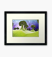 Broccoli Planet [iphone / ipad case / mug / laptop sleeve / shirt / print] Framed Print