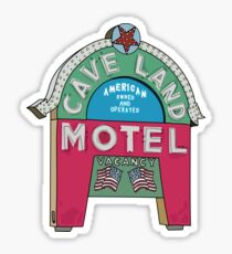 Retro Cave Land Motel Sticker