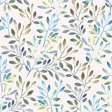 Daybreak Watercolor Leaves Pattern by SpiceTree