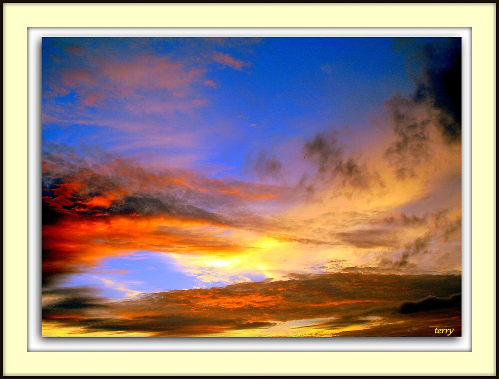 A summers sky by Terry Temple