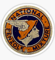 National Benzole Vintage oil and Gas Sticker