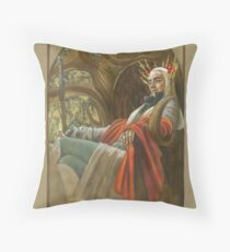 The Elf King throned Throw Pillow