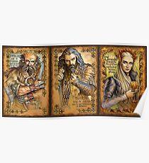 Dwalin, Thorin and Thranduil Poster