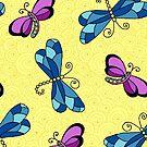 Dragonfly Yellow by Kristin Omdahl