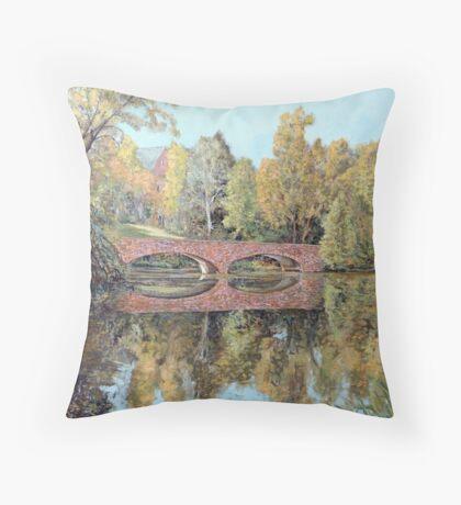 Varsity Lake Bridge - Late Afternoon Throw Pillow