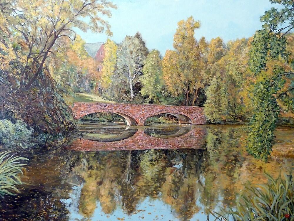 Varsity Lake Bridge - Late Afternoon by Tom Roderick