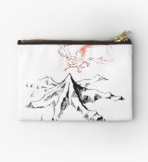 Red Dragon Above A Single Solitary Peak - Fan Art Studio Pouch