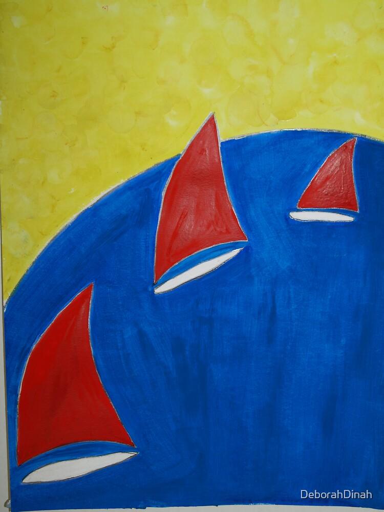 Red Sails Blue Seas by DeborahDinah