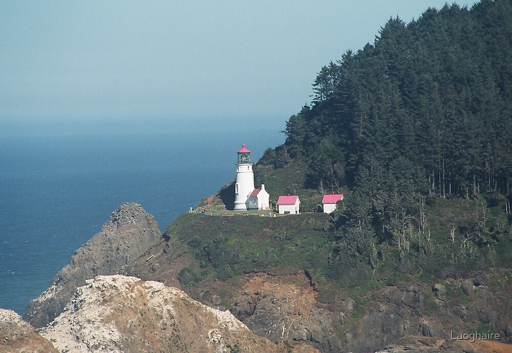 Lighthouse Oregon Coast by Laoghaire