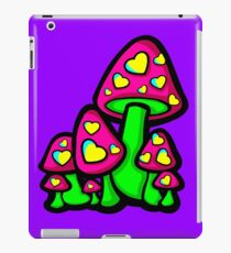Vinilo o funda para iPad Heart Love Mushrooms Pink and Green