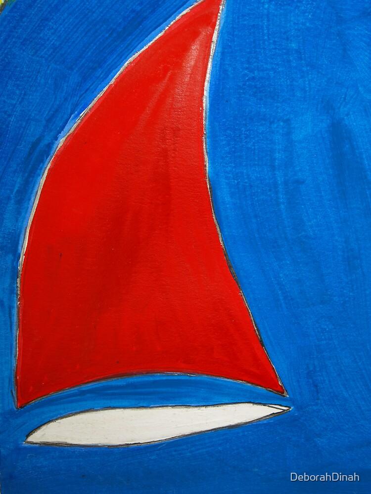 Red Sail by DeborahDinah