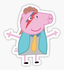 David Bowie peppa Sticker