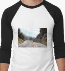 A Road in the Mountains Men's Baseball ¾ T-Shirt