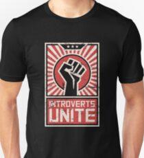 Propaganda Poster   Introverts Unite T-Shirt