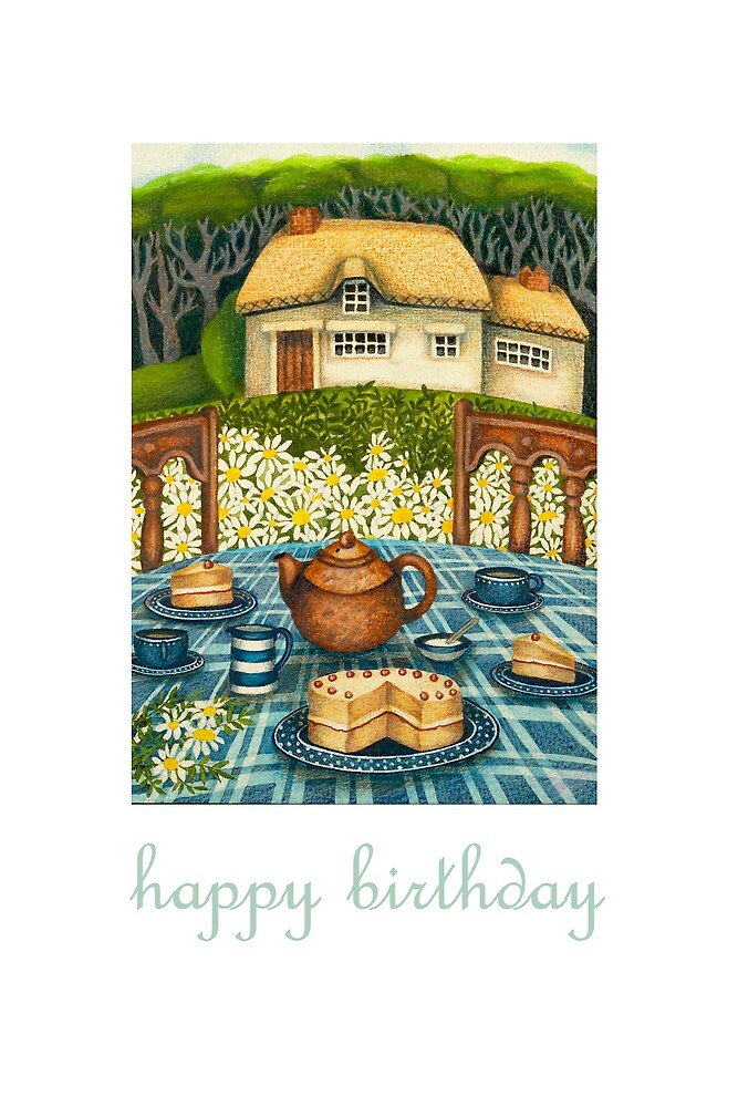 happy birthday at home by bunnyknitter