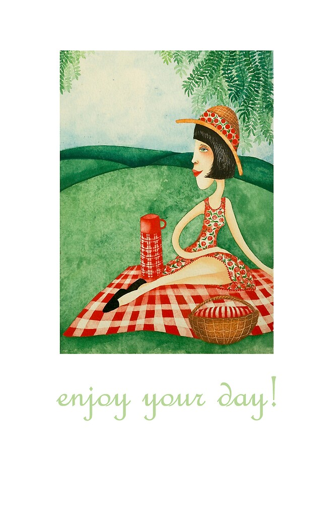 enjoy your day (picnic) by bunnyknitter