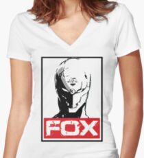 The Fox 02 Women's Fitted V-Neck T-Shirt