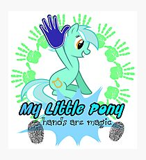 my little pony hands are magic Photographic Print