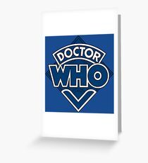 Doctor Who Classic Logo Greeting Card
