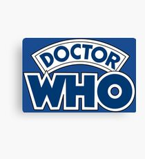 Classic Doctor Who Book Logo Canvas Print