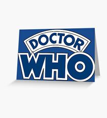 Classic Doctor Who Book Logo Greeting Card