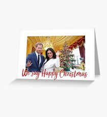 Harry & Meghan: We say Happy Christmas Greeting Card