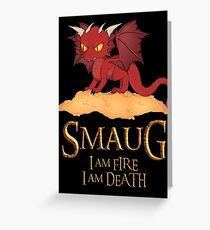 Smaug The Dragon Greeting Card