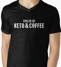 Fueled By Keto And Coffee Men's V-Neck T-Shirt