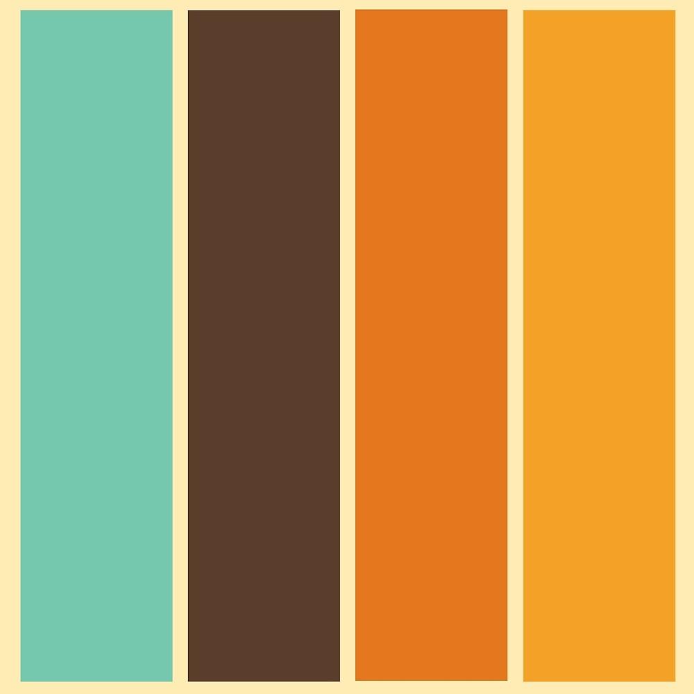 1970 39 s color palette retro stripe pattern by mikhail. Black Bedroom Furniture Sets. Home Design Ideas