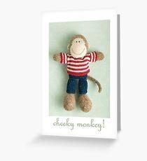 cheeky monkey Greeting Card