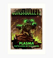 Fallout 4 Guns and Bullets Plasma Weapons of Tomorrow Poster  Art Print