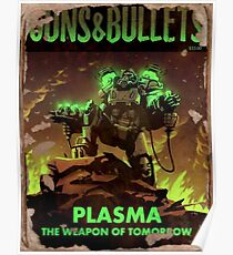 Fallout 4 Waffen und Kugeln Plasma Waffen von morgen Poster Poster