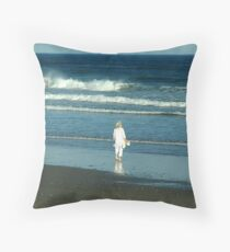 My Beach, My Waves, My Ocean Throw Pillow