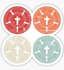 Retro Martin Luther Roses | Lutheran Design Sticker