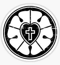 Black & White Luther Rose | Lutheran Design Sticker