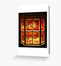christmas shop window castleton derbyshire  Greeting Card