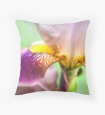 Bright Details. Macro Iris Series Throw Pillow