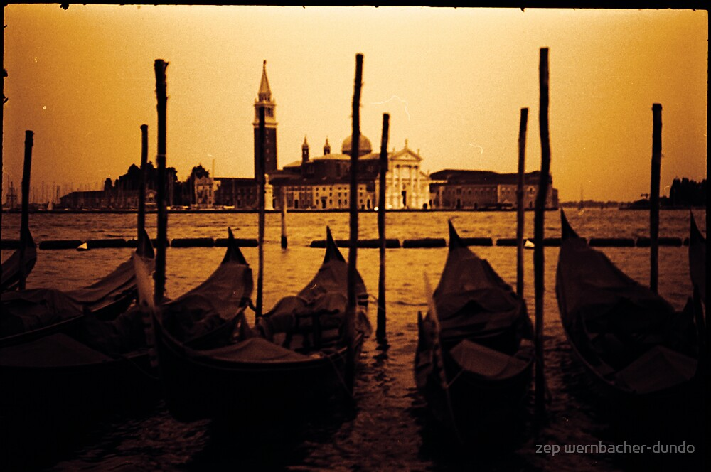 gondolas of venice by zep wernbacher-dundo