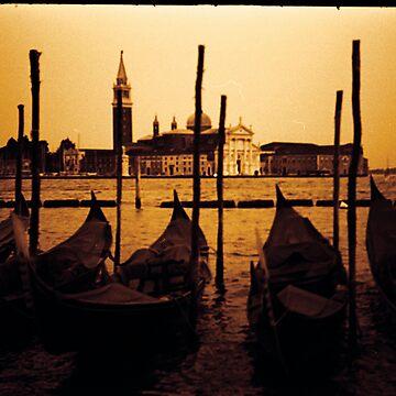 gondolas of venice by pixelkuh