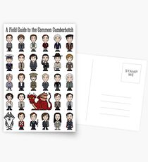 A Field Guide to the Common Cumberbatch (card/notebook) Postcards
